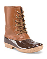 Arika Lace Up Duck Boot