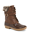 Duck Boot With Faux Fur Collar