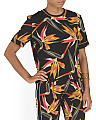 Made In Italy Silk Birds Of Paradise Top