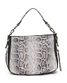 Made In Italy Leather Snake Printed Satchel