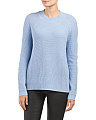 Wool Cashmere Blend Directional Rib Sweater