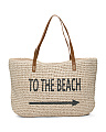 To The Beach Straw Tote