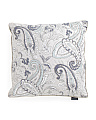 Made In India 20x20 Paisley Foil Pillow