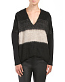 Blacket Stripe Sweater With Pockets
