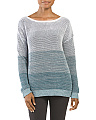 Ombre Stitch Drop Shoulder Sweater