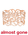 18k Rose Gold 6.40 Carat Diamond Swirl Bracelet