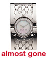Women's Swiss Made Diamond Twirl Bezel Logo Bangle Watch