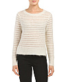 Brushed Pointelle Pullover Sweater