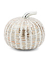 Made In India 7.5in Glass Mosaic Pumpkin
