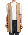 Wool Blend Sleeveless Hooded Vest