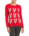 Wool Blend Reindeer Pullover Sweater