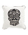 Made In India Beaded Skull Pillow
