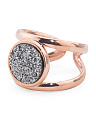 Made In Italy 14k Rose Gold Plated Sterling Silver Split Shank Ring