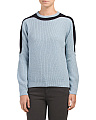 Wool Peter Pan Combo Sweater