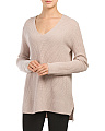 Cashmere Rib V Neck Sweater