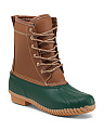 Letty Lace Up Duck Boots