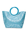 Animal Print Beach Tote