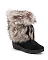 Made In Italy Short Faux Fur Boots