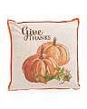20x20 Give Thanks Pillow