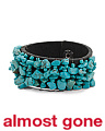 Turquoise Beaded Leather Cuff Bracelet