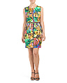 Tropical Print Angular Dress