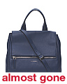 Made In Italy Leather Pandora Pure Medium Satchel