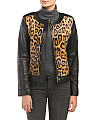 Calf Hair And Leather Leo Jacket