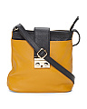 Made In Italy Colorblock Leather Crossbody