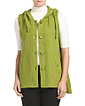 Boiled Wool Hooded Button Vest