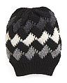 Made In Italy Basket Weave Slouch Hat