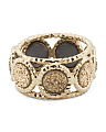 Made In Italy 14k Gold And Gold Drusy Ring
