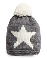 Made In Italy Star Pom Hat