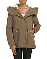 Juniors Drawstring Sherpa Lined Anorak