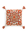 20x20 Embroidered Tassel Pillow