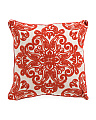 20x20 Embroidered Medallion Linen Pillow