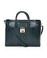 Made In Italy Leather Snake Embossed Satchel