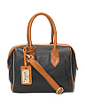 Made In Italy Pendant Leather Satchel