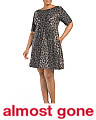 Plus Animal Print Scuba Dress