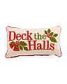 14x24 Made In India Deck The Halls Pillow
