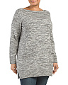Plus Marled Sweater Tunic