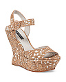 Jana Laser Cut Cork Wedge