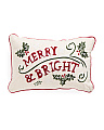 Made In India 12x18 Merry And Bright Pillow