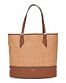 Diana Leather And Straw Tote