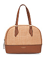 Diana Leather Straw Satchel