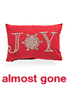 14x20 Embroidered And Beaded Joy Pillow