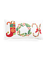 Made In India 14x26 Crewel Stitch Joy Pillow