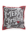 Made In India 19x19 Merry Christmas Pillow