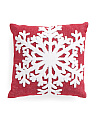 20x20 Snowflake Pillow