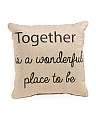 18x18 Togetherness Pillow