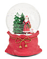 Resin Santa With Tree Musical Globe